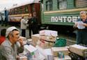 В магазин на станции Ельничная привезли продукты