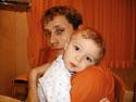...с сыном Славиком