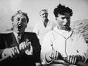 Александров с Чарли Чаплиным на Тихом океане. Фото Сергея Эйзенштейна, 1930