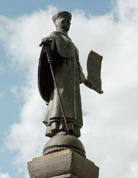 Памятник легендарной старице