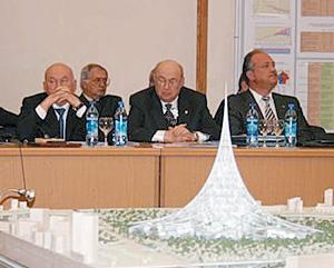 Московские руководители на смотринах «елки» Фостера