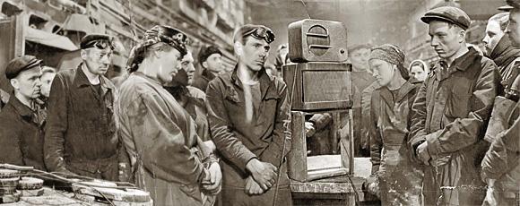 6 марта, 6 часов утра... Литейный цех московского завода «Динамо». Снимок из архива «Огонька» (№ 10 1953 г.)