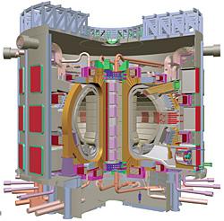 Проект экспериментального термоядерного реактора ИТЭР в разрезе: внутри будет жарче, чем на Солнце