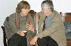 Светлана Алексиевич и Жорж Нива, филолог, исследователь русской литературы