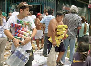 Так выглядит нашествие мародеров на магазины Буэнос-Айреса