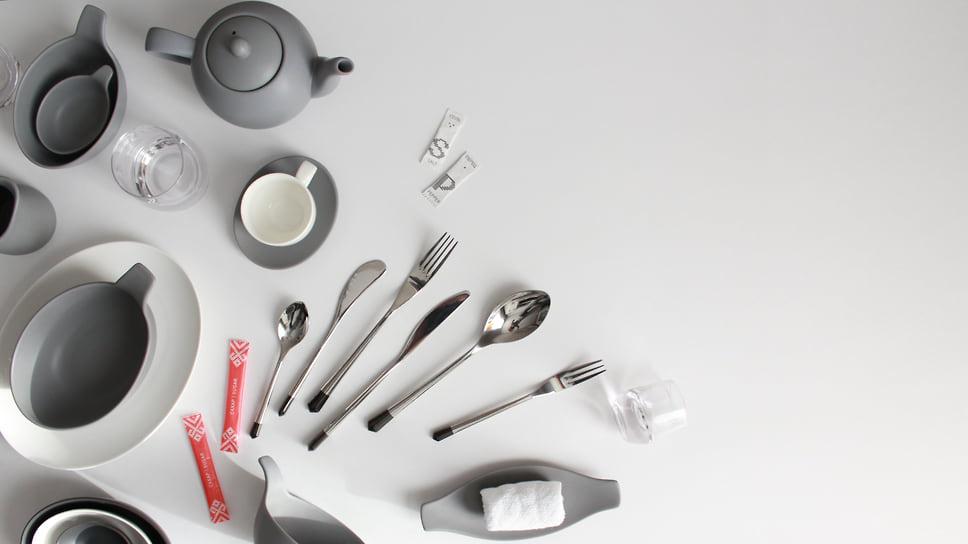 Бортовая посуда «Аэрофлота» получила дизайн-премию Red Dot Award /