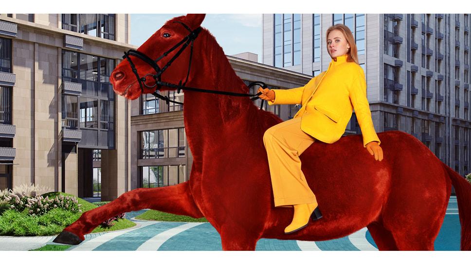 Для косплея картины Петрова-Водкина «Купание красного коня» выбран премиальный квартал «Матч Поинт»: строгий конструктивизм, чистые цвета, яркие авангардные пятна и… решительность XXI века