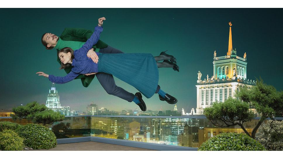«Над городом»: Марк Шагал и его «парящие над землей влюбленные» смотрят на центр Москвы с крыши элитного квартала «Сады Пекина»