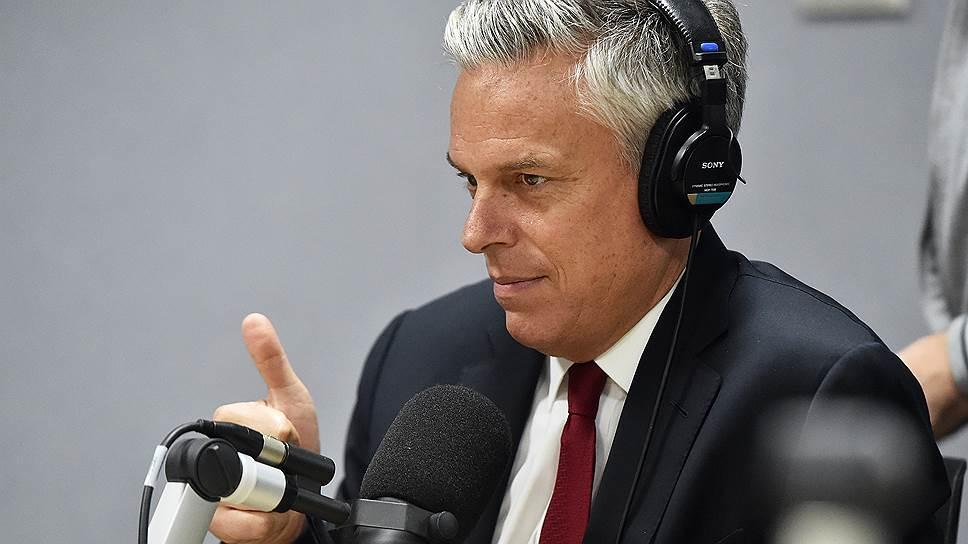 О чем еще рассказал посол США в России Джон Хантсман в интервью «Ъ-FM»
