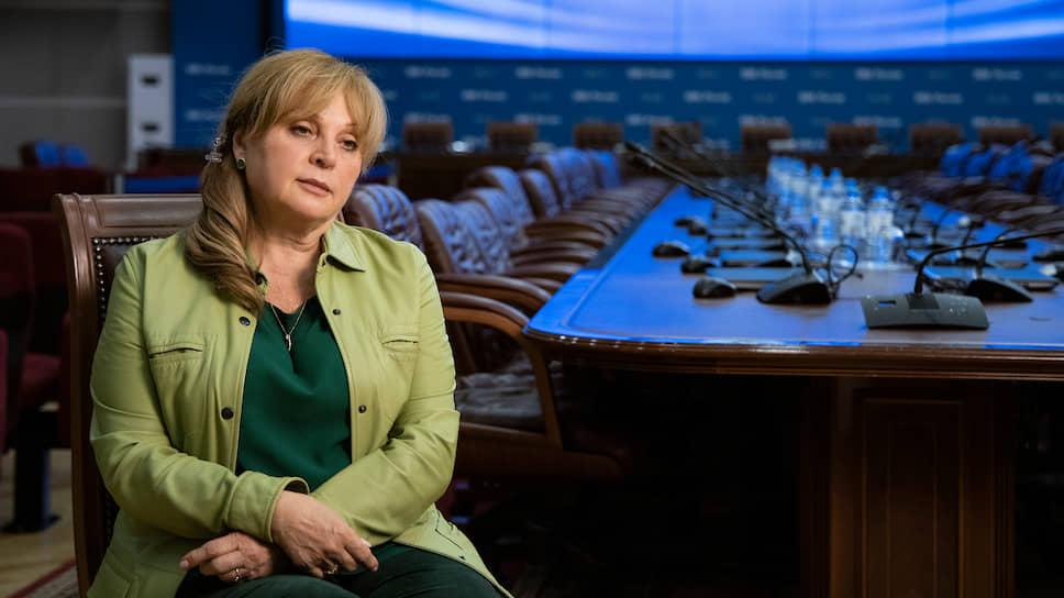 Глава ЦИКа Элла Памфилова во время интервью Аssociated Press