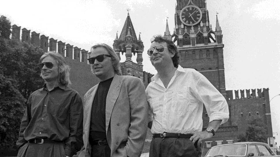 Слева направо: Ричард Райт, Дэвид Гилмор, Ник Мейсон