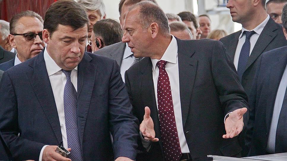 Дмитрий Пумпянский (справа) при разработке концепции технопарка «Новокольцовский» рассчитывает на помощь Евгения Куйвашева