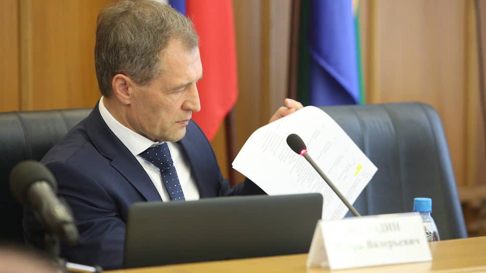 Глава думы Екатеринбурга Игорь Володин планирует рассмотреть материалы счетной палаты на следующей неделе