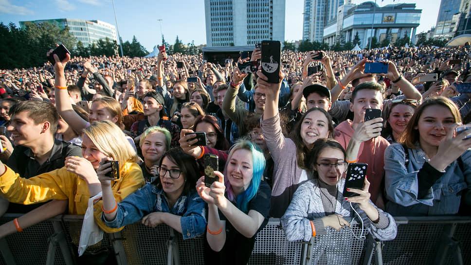 Организаторы ожидали на фестивале Ural Music Night не менее 300 тыс. зрителей