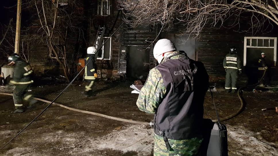 Последствия пожара в доме на улице Омская,91 в Екатеринбурге