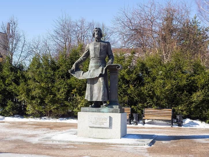 Памятник Семену Ремезову в Тобольске