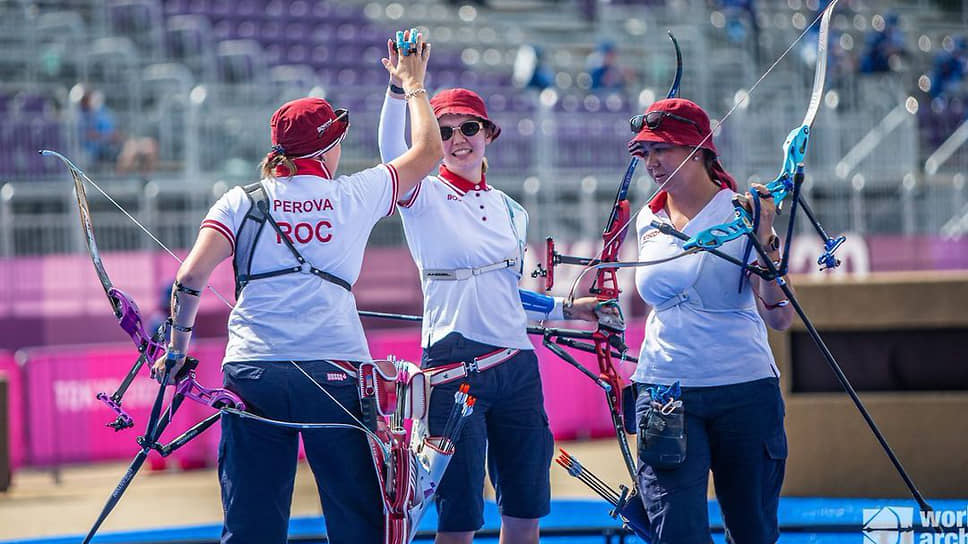 Сборная России по стрельбе из лука завоевала серебро на Олимпиаде в Токио