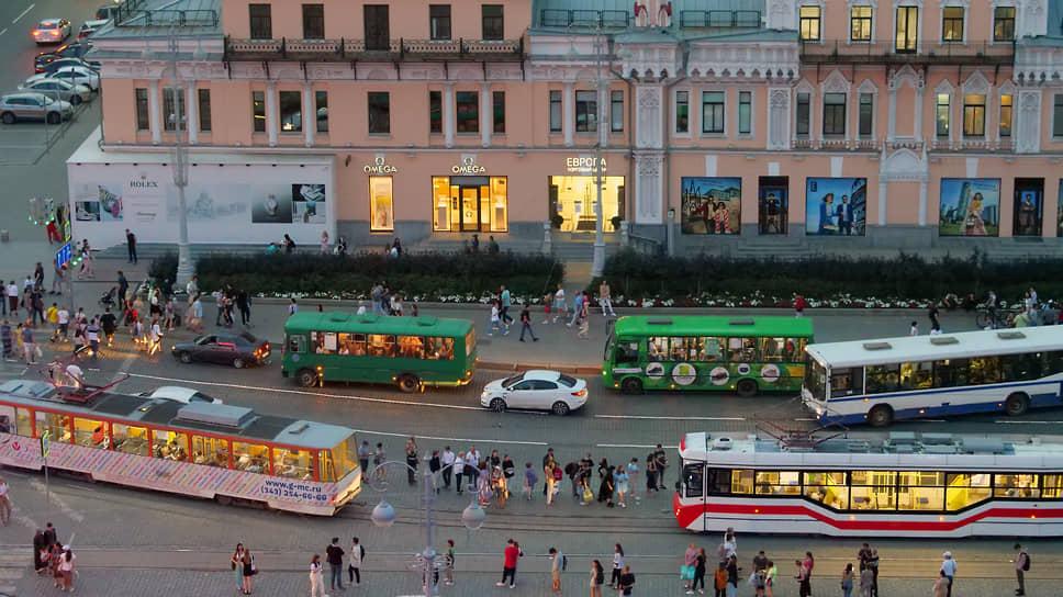 Виды вечернего Екатеринбурга
