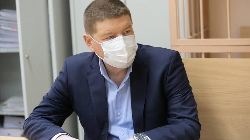 Застройщик Игорь Плаксин в Чкаловском районном суде во время вынесения приговора по делу о мошенничестве на 2,5 млрд рублей