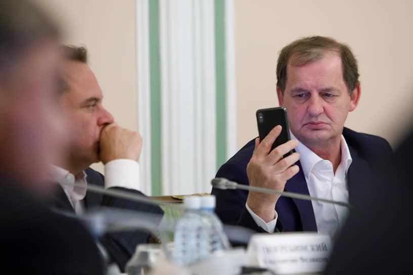 Андрей Симановский на заседании президиума Свердловского областного союза промышленников и предпринимателей