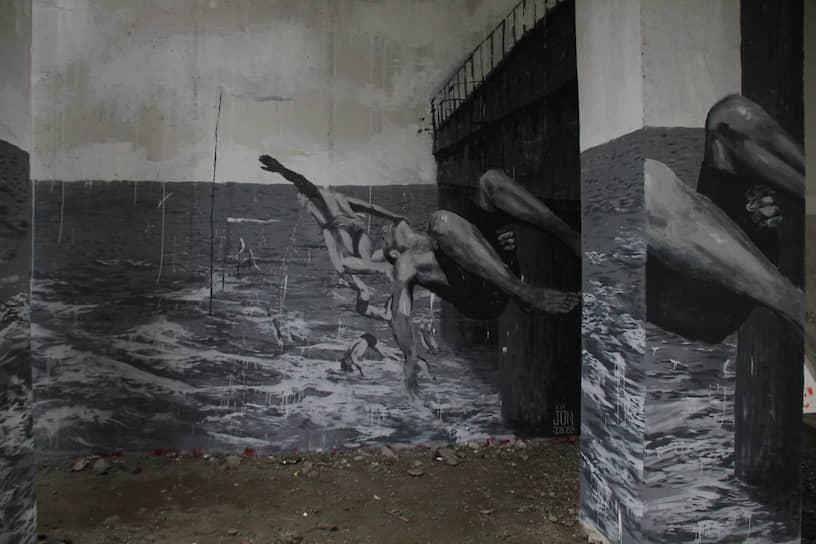 Арт-объект на Макаровском мосту