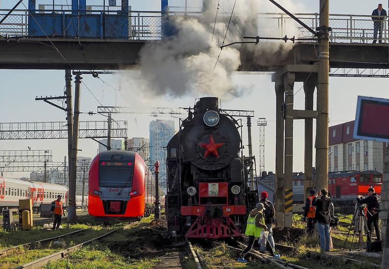 """Презентация паровоза """"Лебедянка"""", который будет возить туристов по Свердловской железной дороге"""