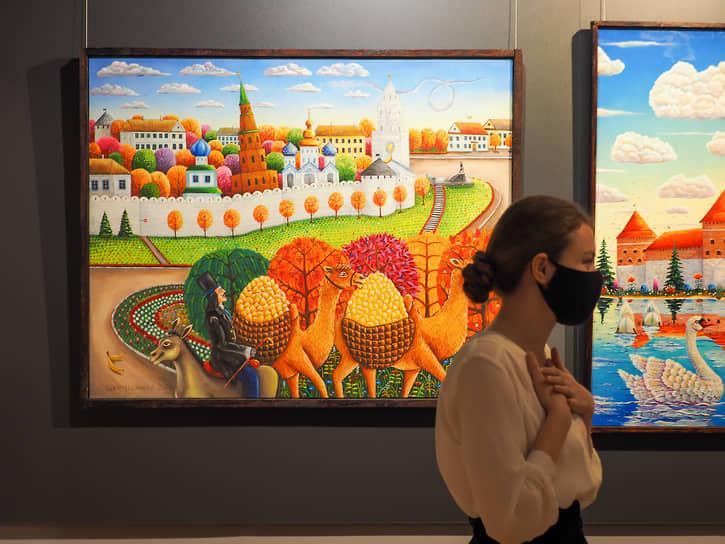 На картинах Альфрида Шаймарданова часто присутствует Казанский кремль