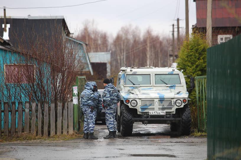Место контртеррористической операции в садах под Екатеринбургом