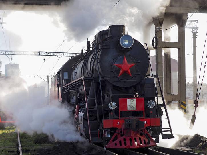 Паровоз серии «Л» («Лебедянка») на станции Екатеринбург-Пассажирский, который планируется использовать на туристических маршрутах Свердловской железной дороги