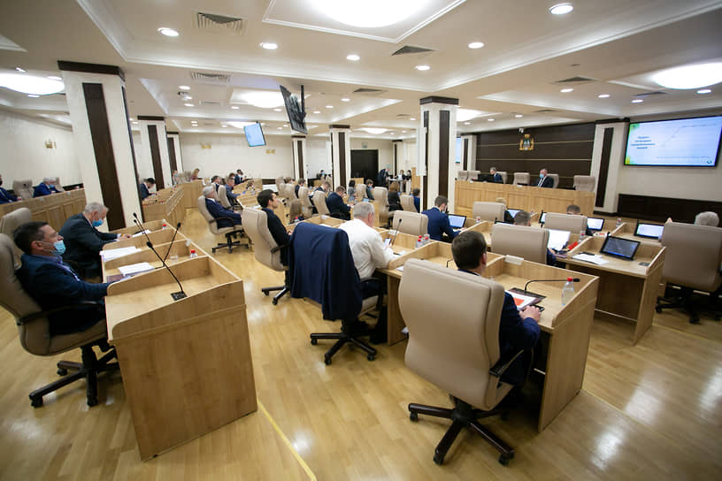 Заседание городской думы Екатеринбурга в здании администрации Екатеринбурга
