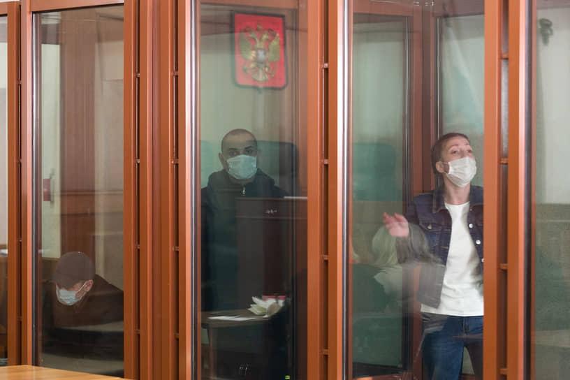 Обвиняемые в убийстве Ксении Каторгиной в Свердловском областном суде