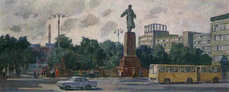 Борис Глушков. «У главного входа в УЗТМ». 1978 год