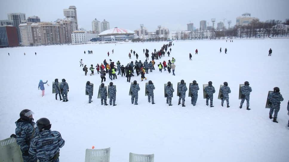 Как проходила акция в поддержку оппозиционера в Екатеринбурге