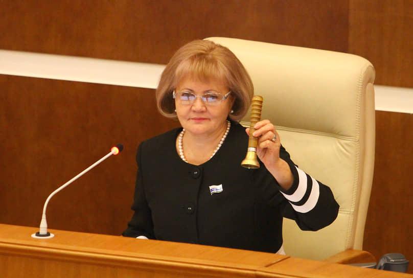 Людмила Бабушкина во время заседания законодательного собрания Свердловской области. 2015 год