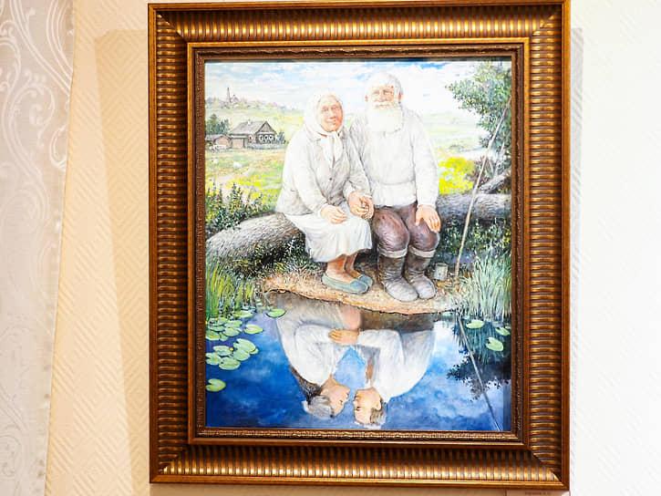 Выставка Леонида Баранова «Деревенские этюды» в культурно-просветительском центре «Царский»