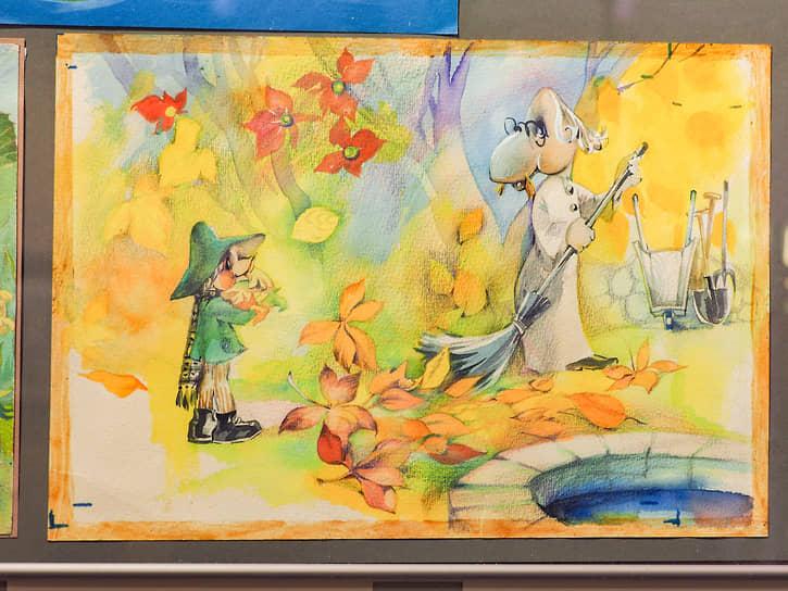 Выставка рисунков Евгении Стерлиговой в галерее «ПоЛе» в Екатеринбурге. Тема муми-троллей