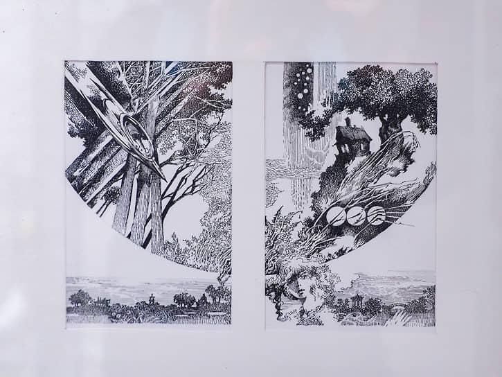 Выставка рисунков Евгении Стерлиговой в галерее «ПоЛе» в Екатеринбурге