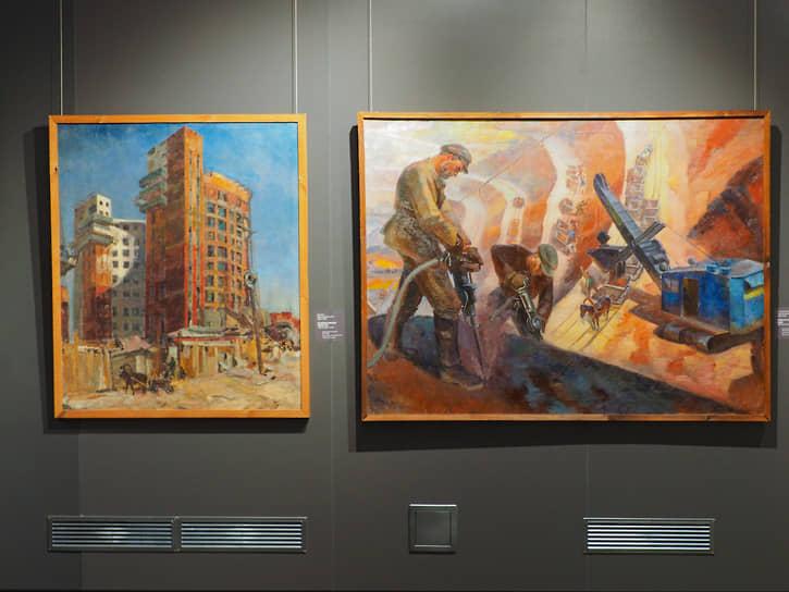 Экспозиция призвана рассказать об истории изобразительного искусства в СССР, обращая внимание на общие характерные черты эпохи.