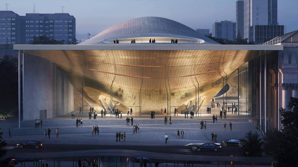 Проект нового концертного зала свердловской филармонии, разработанный бюро Zaha Hadid Architects