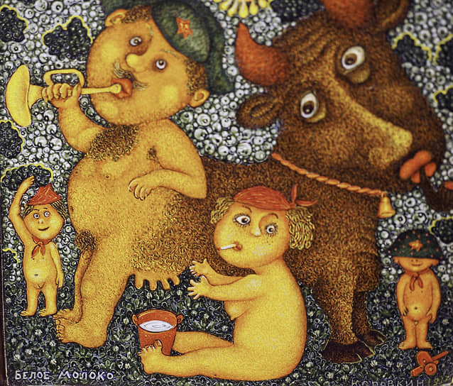 Экспозиция уральского художника Альберта Коровкина
