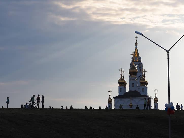 Благовещенский храм Святых Божиих строителей в Академическом районе Екатеринбурга