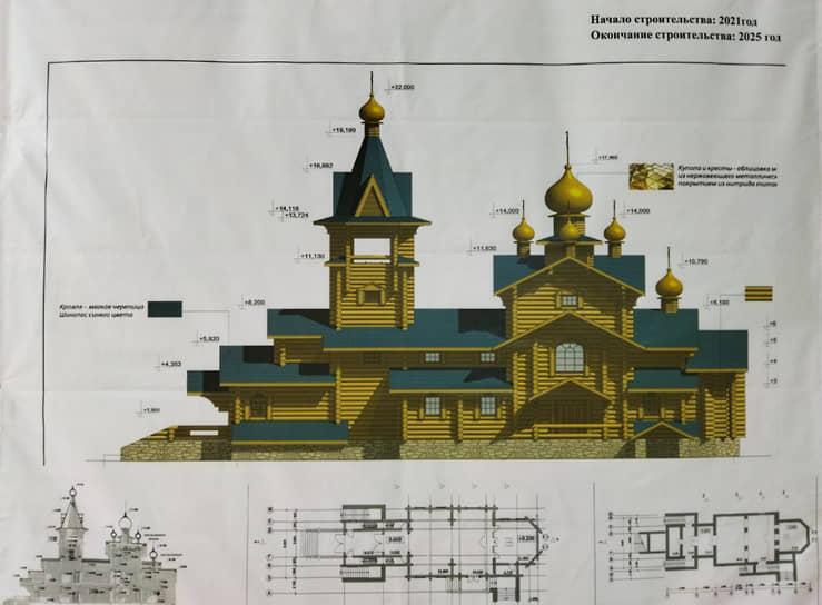 Храм будет построен из дерева и вписан в генеральный план парка «Патриот» как архитектурная доминанта