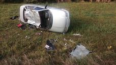 Три человека перевернулись на автомобиле в Удмуртии