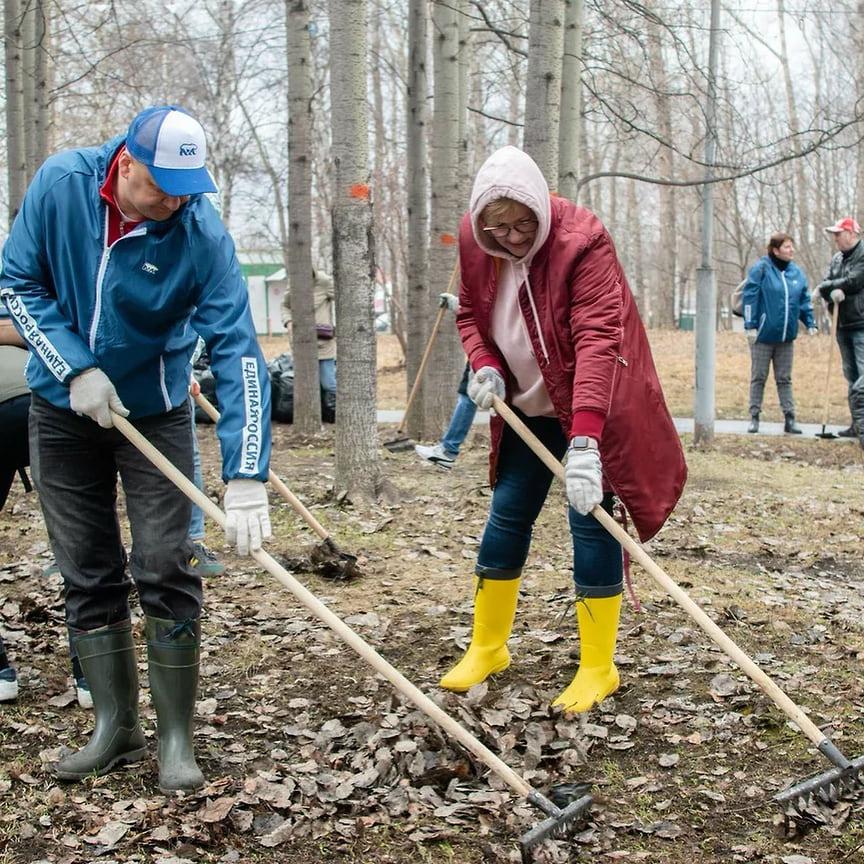 В целом уборкой парка занимались 200 человек. Они очистили от мусора территорию в 92,4 тыс. кв. м.