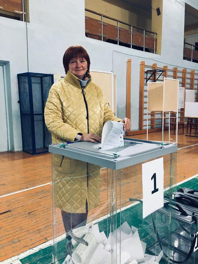 Министр образования и науки Удмуртии: «Проголосовала. Выполнила гражданский долг».