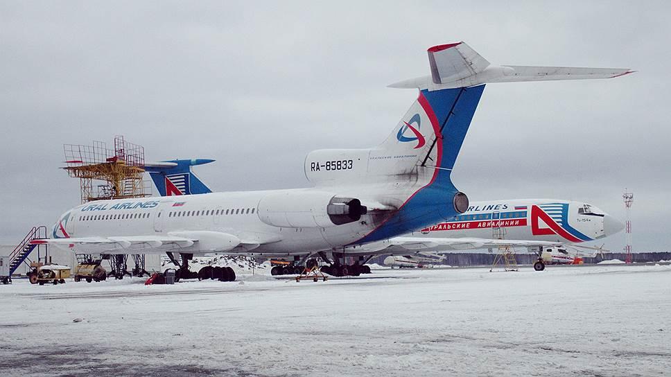 Казанский Ту-154 некоторое время работал под флагом «Уральских авиалиний»