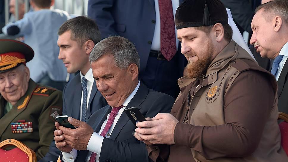 В отличие от Рамзана Кадырова (справа) Рустам Минниханов снизил свое политическое влияние