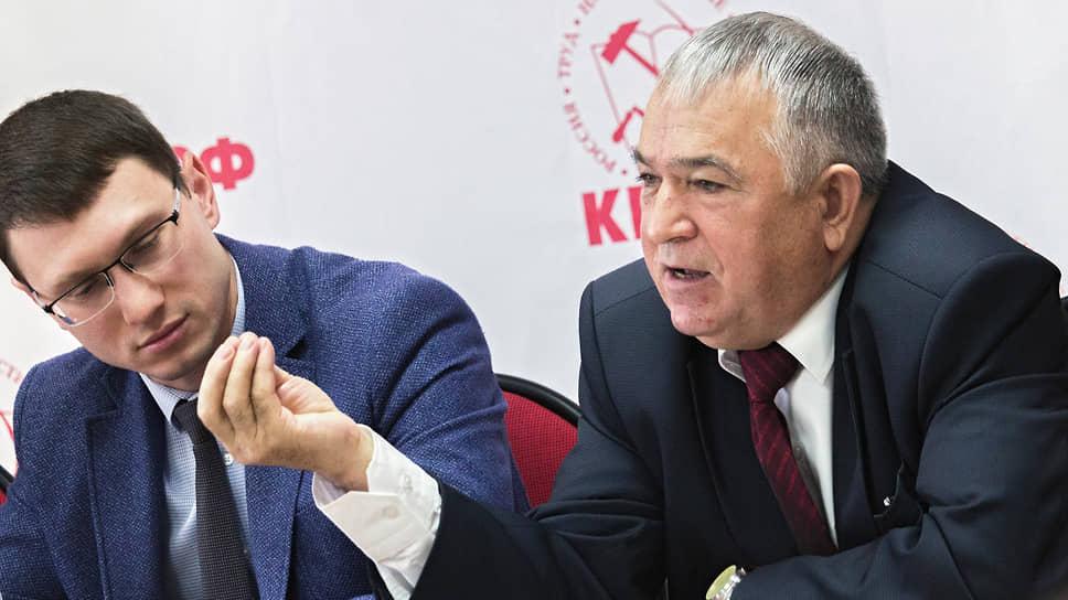 Список кандидатов КПРФ от Татарстана на выборах в Госдуму могут возглавить Хафиз Миргалимов (справа) и Артем Прокофьев (слева)