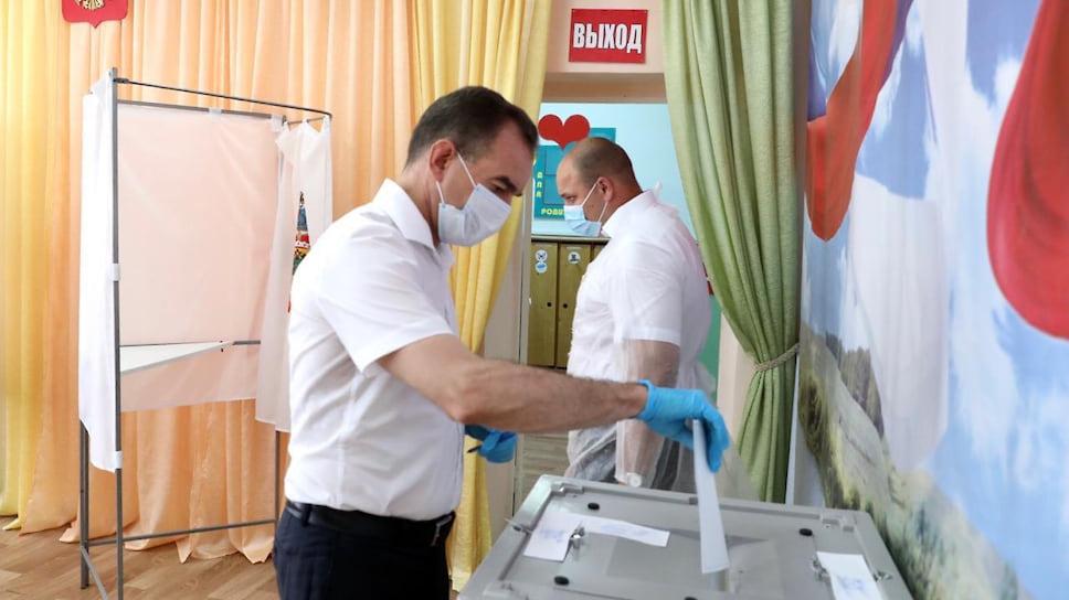 Губернатор Краснодарского края Вениамин Кондратьев отдал свой голос в основной день голосования