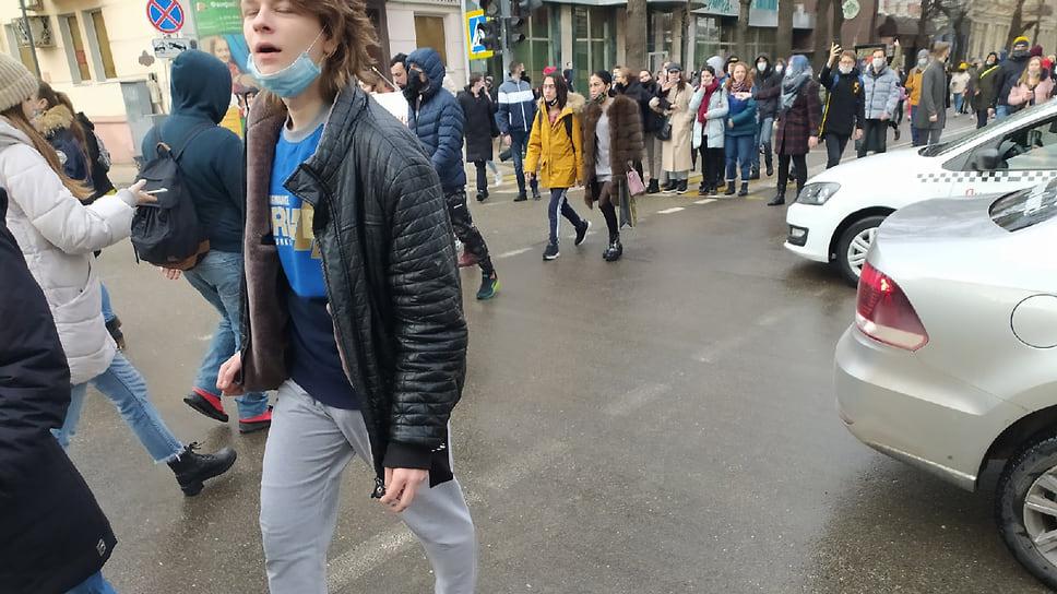 В митинге принимали участие студенты